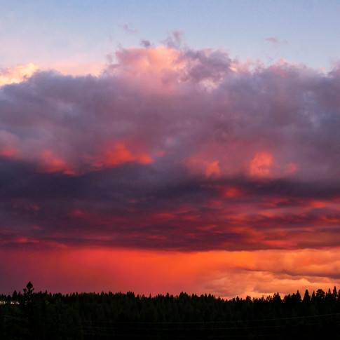 Distant fires at sunset Bend, OR August 2018