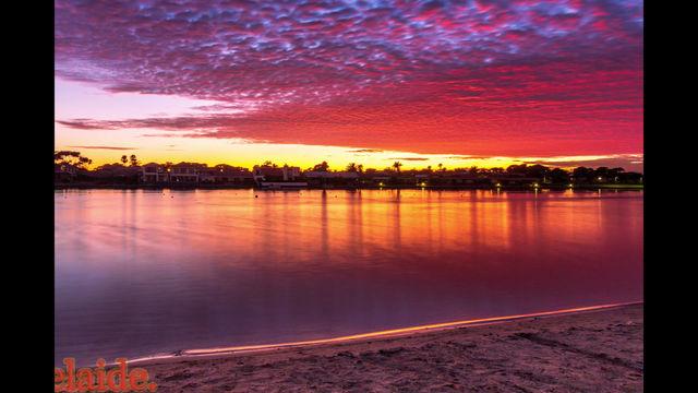Summer Sunrise West Lakes Adelaide
