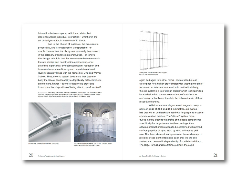 Clic System Burkhardt Leitner pages 20 and 21