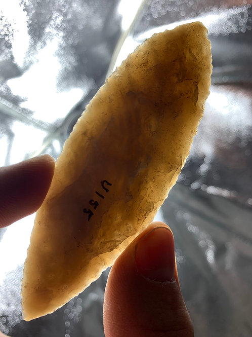 """3.7/8"""" Amazing Western Blade Agate Material TRANSLUCENT!!!"""