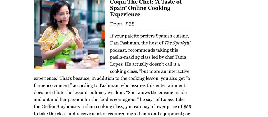 Best Online Live Cooking Class