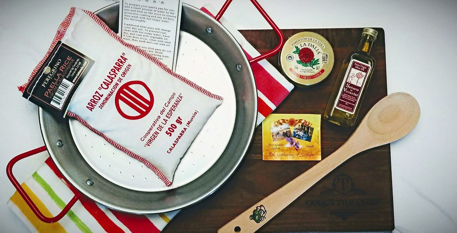 Paella Meal Kit and Chef Tools for Kids