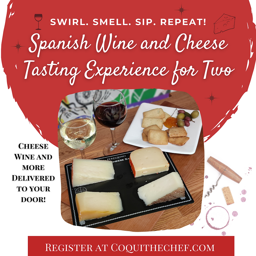 Spanish Wine and Cheese Tasting Experience for Two | Dec 12