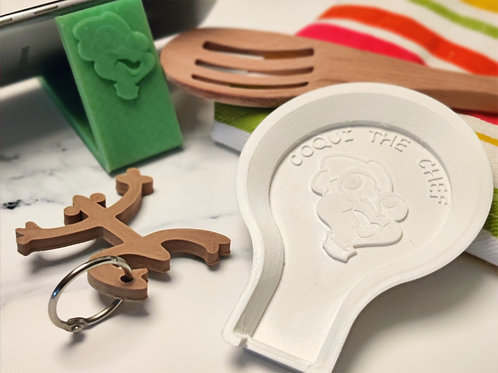 3D Prints - Spoon Rest, Phone Stand & Keychain