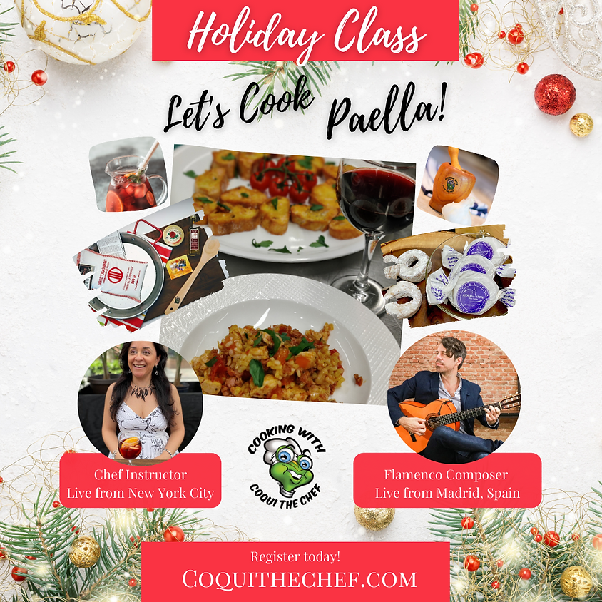 Holiday Paella Cooking Class | Dec 19
