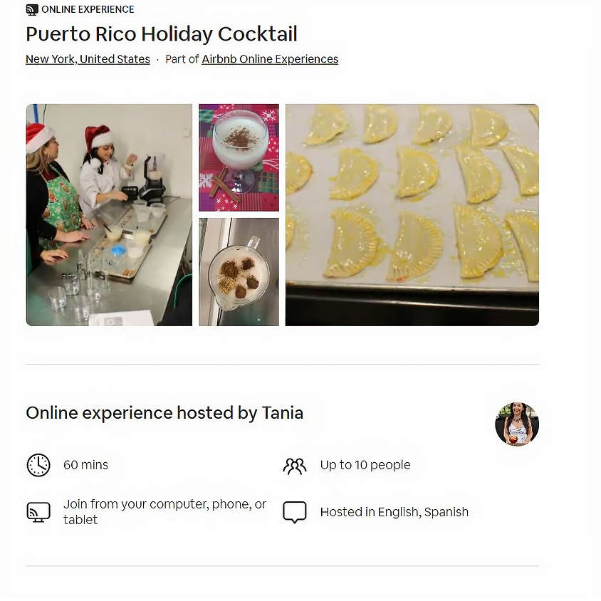 Puerto Rico Holiday Cocktail | Partner with Airbnb