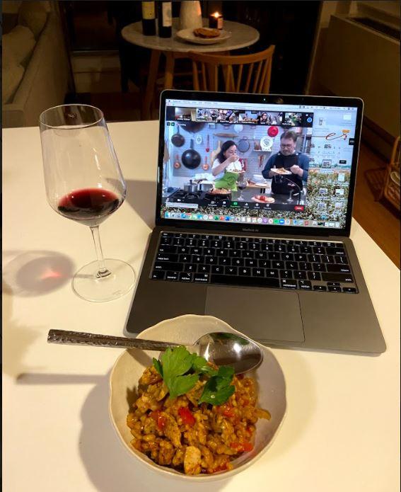 Online cooking class