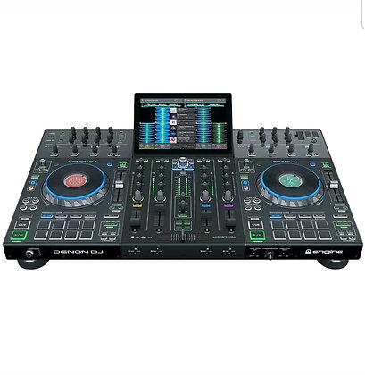 DJ PRIME 4   4 Deck Standalone Smart DJ Console / Serato DJ Controller with Buil