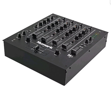 M6 4-Channel DJ Mixer With USB Interface in Black