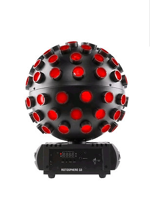 DJ Rotosphere Q3 Mirror Ball Dance Floor Effect Light + DMX Controller