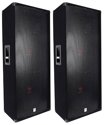 "(2) Dual 15"" 6000 Watt Peak/3000 Watt RMS Three-Way Audio Passive Loudspeakers"