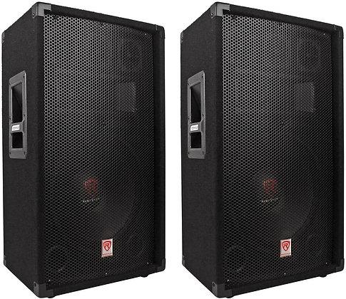 "(2)  12"" 3-Way 1000 Watt 4-Ohm Passive DJ/Pro Audio PA Speakers"