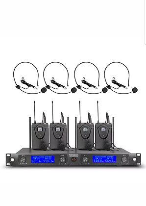 4 Channel Microphone Handled Mic/Bodypacks