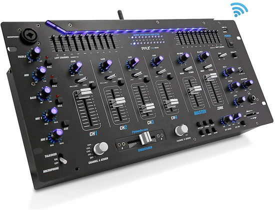 6 Channel Mixer, Bluetooth DJ Controller, Stereo Mixer, Professional Sound Syste