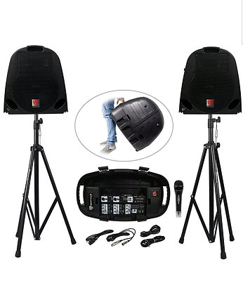 GIG-IN-A-BOX Portable Collapsible 600 Watt Complete PA System