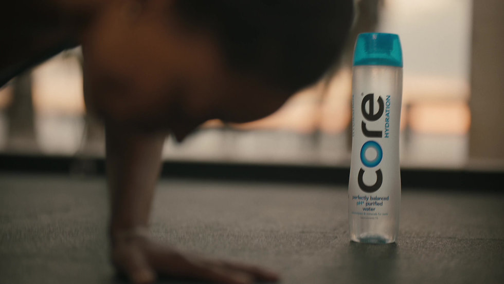 30 second TV commercial for the launch of CORE Water's new brand advertising campaign.