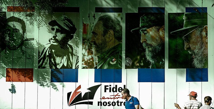 Photograph of Cuban propoganda sign for Fidel Castro in Cuba.