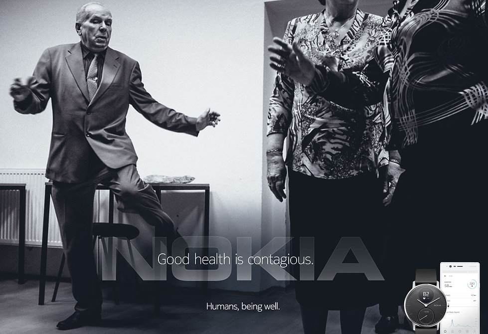 Nokia Health Counts Brand Advertising Campaign print advertisement.