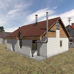 3d asset village houses
