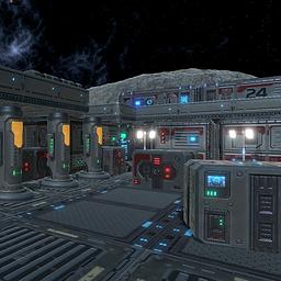 Sci-Fi props unity3d asset
