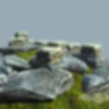 Flat stones 3d asset