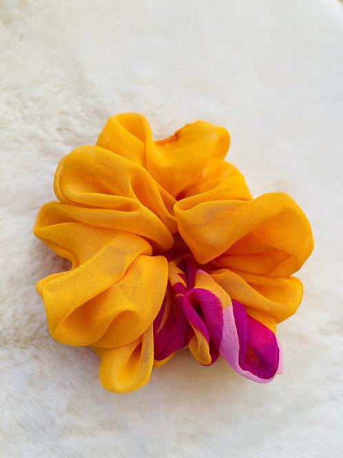 Chouchou multicolore orange, rose et lila