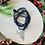 Thumbnail: Sautoir en cristal bleu nuit avec pendentif tête de buffle