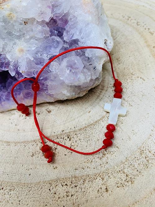 Bracelet croix en nacre