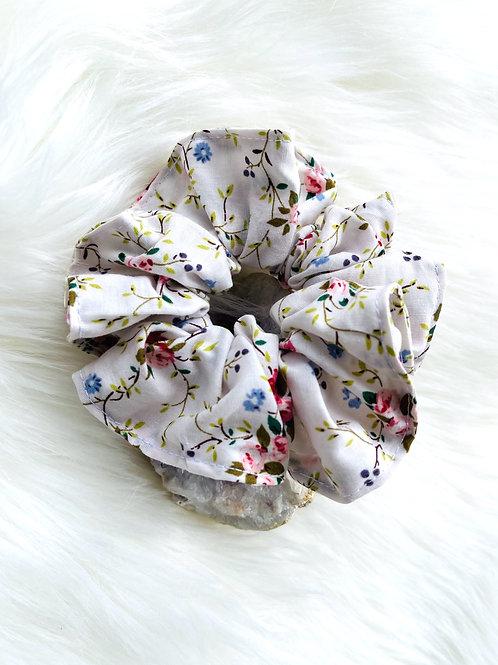 Chouchou Blanc Fleuri