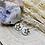 Thumbnail: Boucles créoles fines enacier inoxydabledoré avec de la Nacre