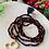 Thumbnail: Sautoir en cristal Noir/Rouge avec pendentif  Coeur