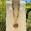 Thumbnail: Sautoir en Bois avec des pierre d'oeil de tigre de 10mm.