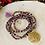 Thumbnail: Sautoir en cristal Violet/Doré avec pendentif arbre de vie