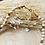 Thumbnail: Collier pierres fines et cristal, avec pendentifTrèfle.
