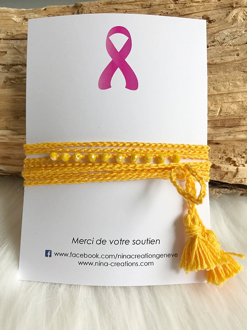 Bracelet ou collier en fil de coton