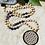 Thumbnail: Sautoir en Bois avec des Améthyste de 10mm