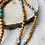 Thumbnail: Sautoir en Bois avec des cristal etHowlite Turquoise