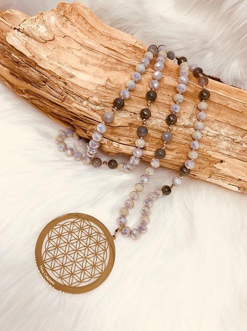 Sautoiren Cristal avec perles semi-Précieusesjade.