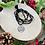 Thumbnail: Sautoir en cristal Noir/Argenté avec pendentif Fleur de lotus