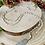 Thumbnail: Sautoir en cristal Beige/Gris avec pendentif Plume