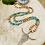 Thumbnail: Sautoir en Bois avec des Agate et Jaspe de 10mm