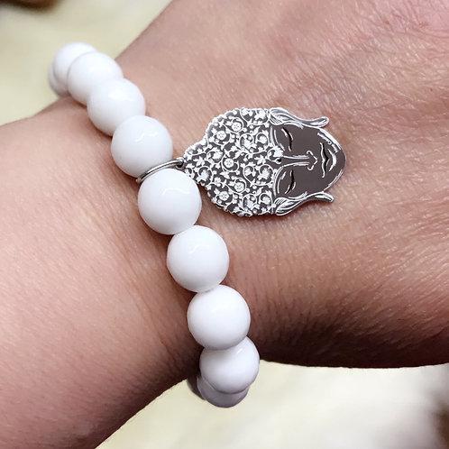 Bracelet en pierres semi précieuses jade avec Pendentifbouddha