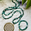Thumbnail: Sautoir et Bracelets en Agate dans les ton vert turquoise