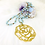 Thumbnail: Sautoir tout en perles de cristal bleu Pastel avec ou sans pendentif