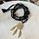 Thumbnail: Sautoir en cristal Noir/Doré avec pendentif attrape rêve Doré