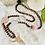 Thumbnail: Sautoir en Bois avec des pierres semi précieuses