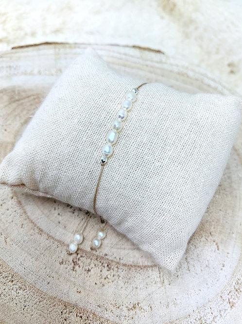 Bracelet protection: Perles de culture d'eau douce
