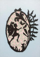 Oval Fairy Floral Background