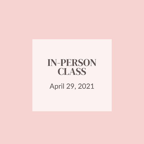 In-person class - April 29