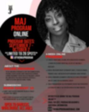 MAJ Program Online September 2020 Flyer.